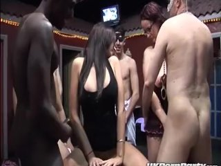 Big Titted British Pornstar Emma Butt Enjoys A Gangbang In A Swingers Club