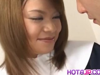 You Morisawa Gets Cum On Lips After A Good