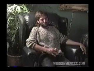 Homemade Video of Mature Amateur Redneck Wayne Jacking Off
