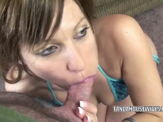 MILF Brandi Minx is swallowing a stiff cock