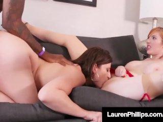 Lauren Phillips Has Interracial 3 Way In Boober Car Service!