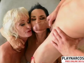 Voluptuous Stepmom Rita Daniels and And Leah LAmour Gets nailed Sweet Teen