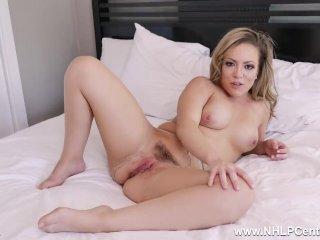 Latina Milf Carmen Valentina in hot pantyhose slut action fingering pussy
