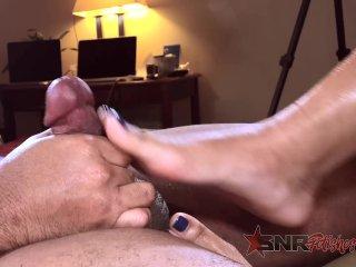I made him cum with my feet