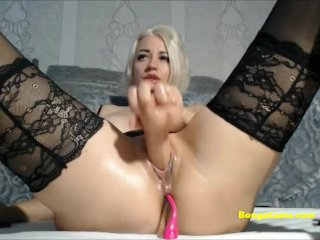 Juicy Blonde Is Squirting By Using Toys