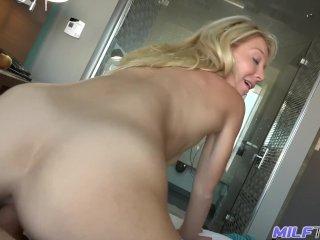 Milf Trip - Big Cock Pounds Tight Little Blonde Milf - Part 2