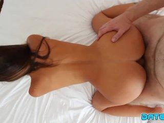 Date Slam - Hot Freckle-faced Brunette Hottie Creampied - Part 3