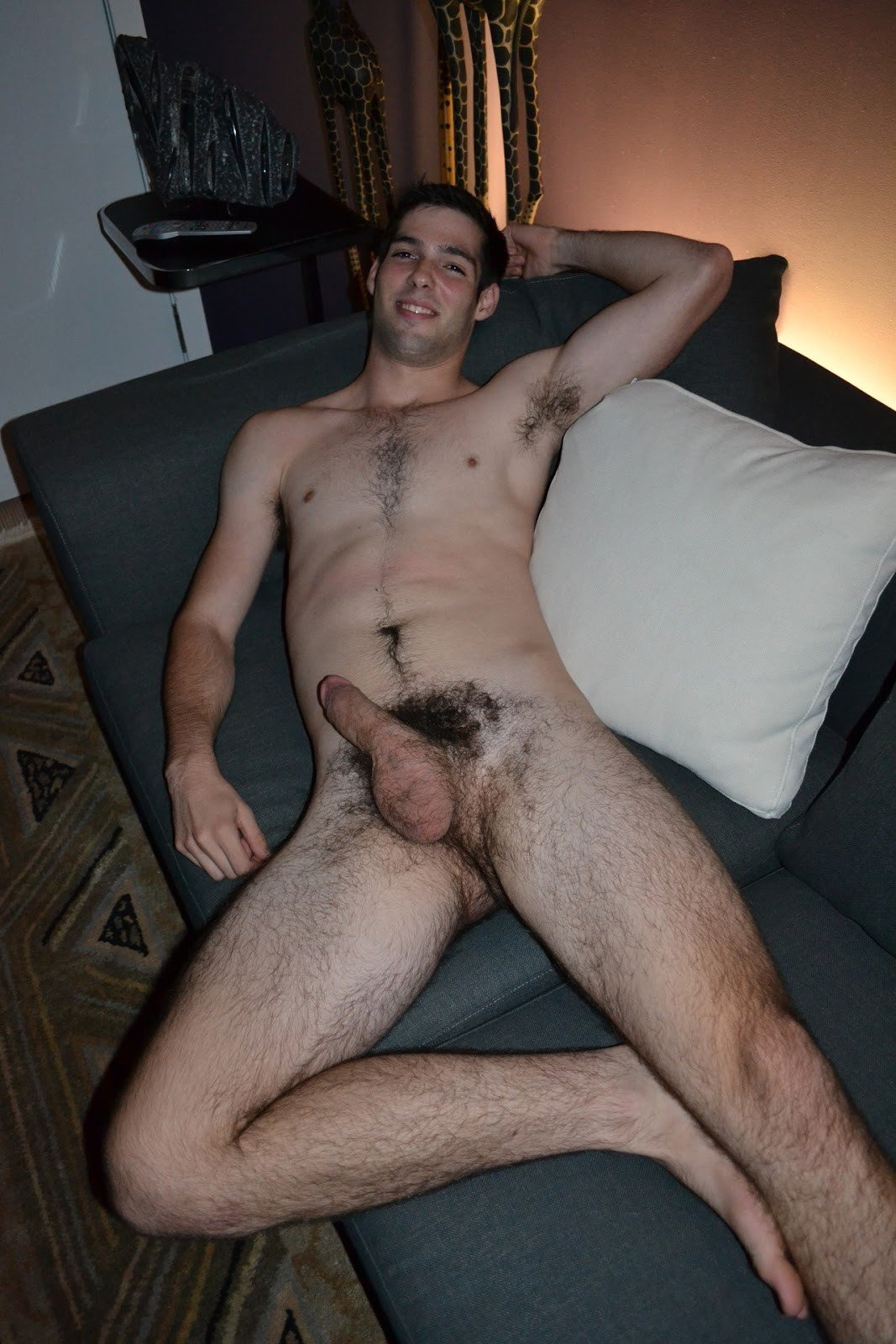 pic of a naked guy with a boner