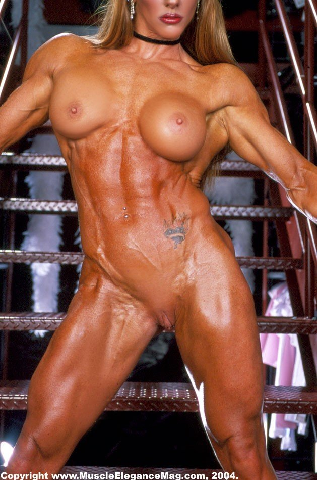 Naked female bodybuilder muscle lesbians in the gym 2