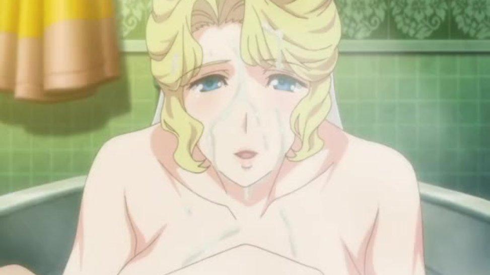 お風呂の中で爆乳メイドの最強パイズリを受けてザーメン顔射