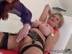 Milf Red XXX plays with bound Lady Sonia