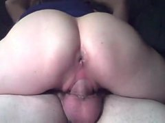 Cock barely fit into her mature pussy