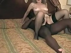BBC loving wife Cathy with two massive cocks
