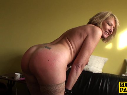 mature bdsm brit paddled and nailed