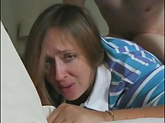 recently divorced mom janet & her first anal