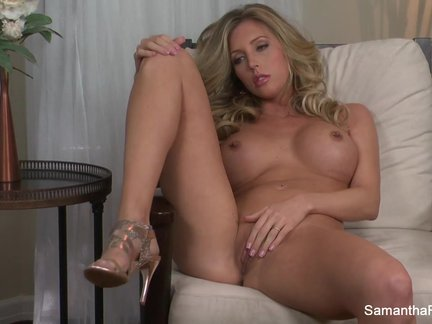 big titted blonde samantha saint fingers her twat Pornbring.com