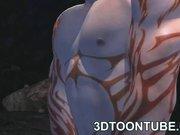 Busty 3D Vixen Sucks and Fucks