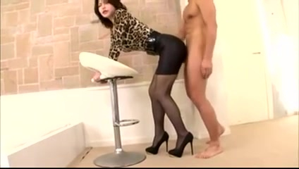 Asian woman got fucked through skirt