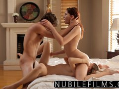 Lesbian lovers fuck older brother's best friend