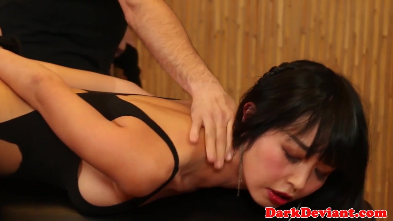 Asian sex slave Marica Haze cumswallows
