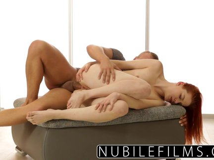 NubileFilms – Beautiful Redhead Gets Anal Payment