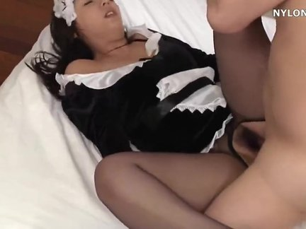 ryoko murakami | ryoko to serve us in the neo pantyhose fetish erotic body