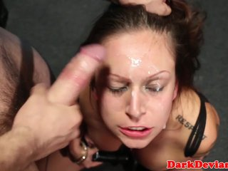 Busty chokeplay cumslut roughly disciplined