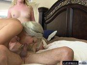 Pornstars Laci and Alix twerk on cock cumshot