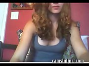 Beautiful webcam girl shows he