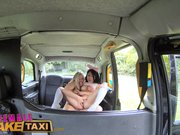 FemaleFakeTaxi Lesbian bonnet sex with Asian