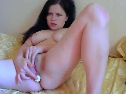 Masturbation anal and vaginal of beautiful brunette