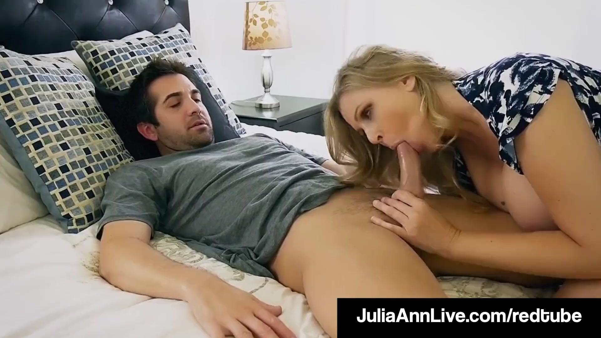 Зрелка Julia Ann трахает своего любовника
