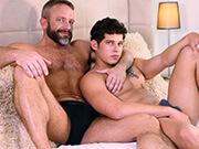 Hot gay sex in trio